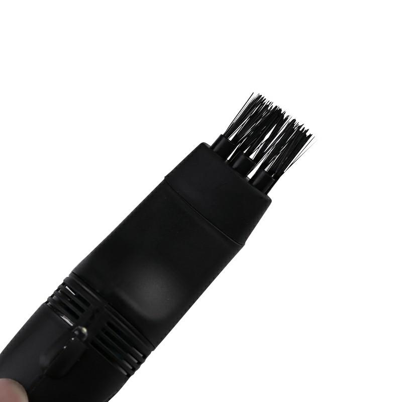 Mini USB Keyboard Vacuum Cleaner with Mini Brush Dust Cleaning Kit - Black