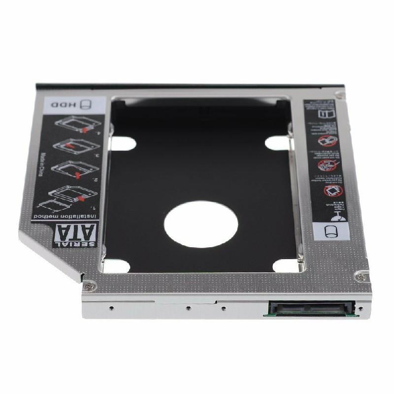 Universal 12.7mm SATA to SATA 2nd Enclosure SSD HDD Hard Drive Caddy Bracket - 12.7mm