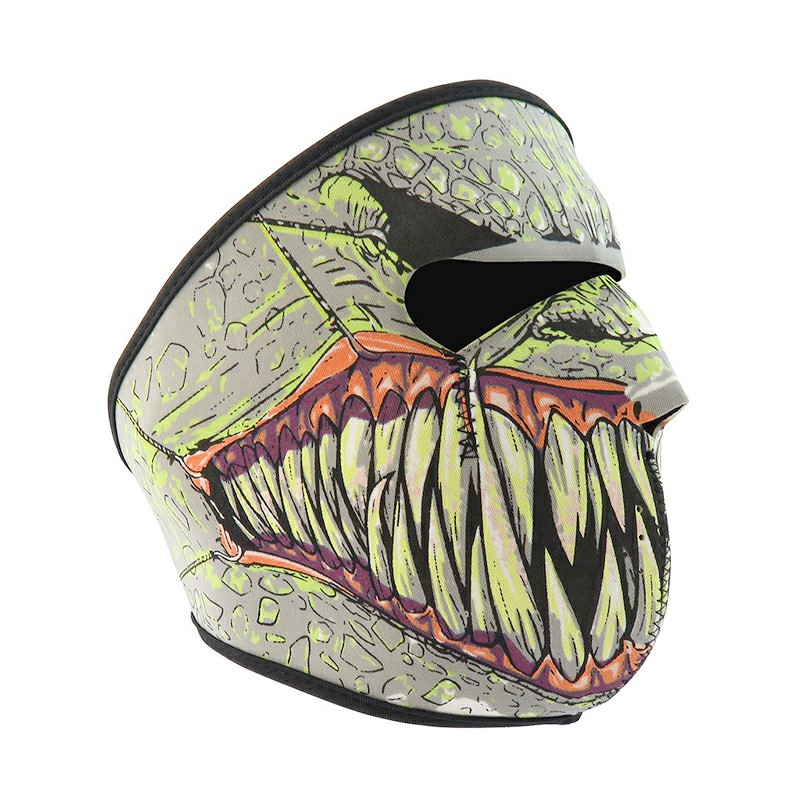 Unisex Windproof Full Face Mask Motorcycle Skiing Snowboarding Bike Facial Protector - Monster Teeth