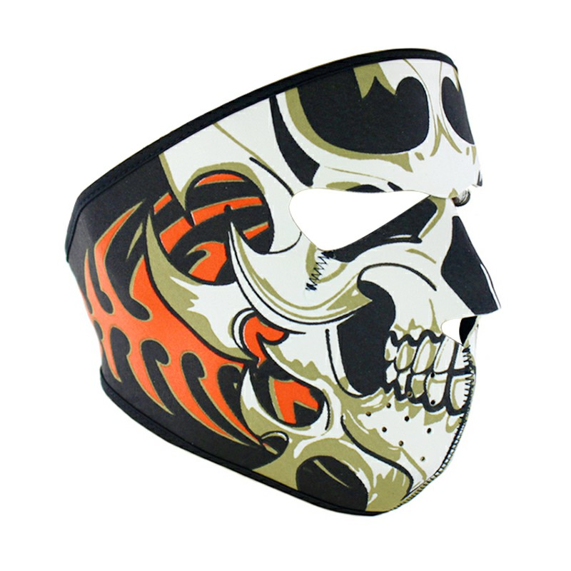 Unisex Windproof Full Face Mask Motorcycle Skiing Snowboarding Bike Facial Protector -Skull Blade