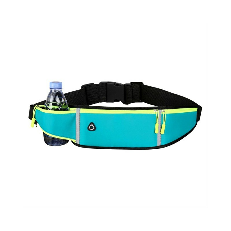 Holder Bag Waterproof Running Pouch Belt Waist Pack Fanny Pack for Bottle - Blue