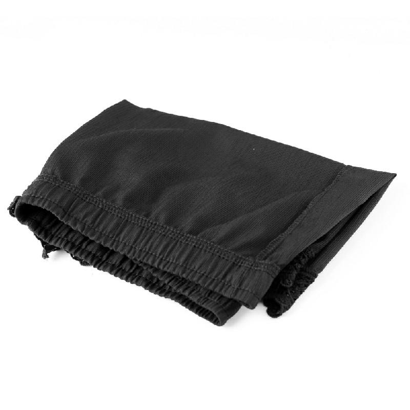 Womens Ladies Elastic Waist Drawstring Lace Hem Beach Shorts Pants Black - 2XL