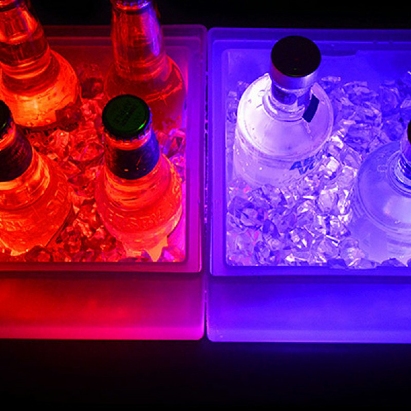 3.5L LED Colour Changing Ice Bucket Champagne Wine Drinks Cooler.