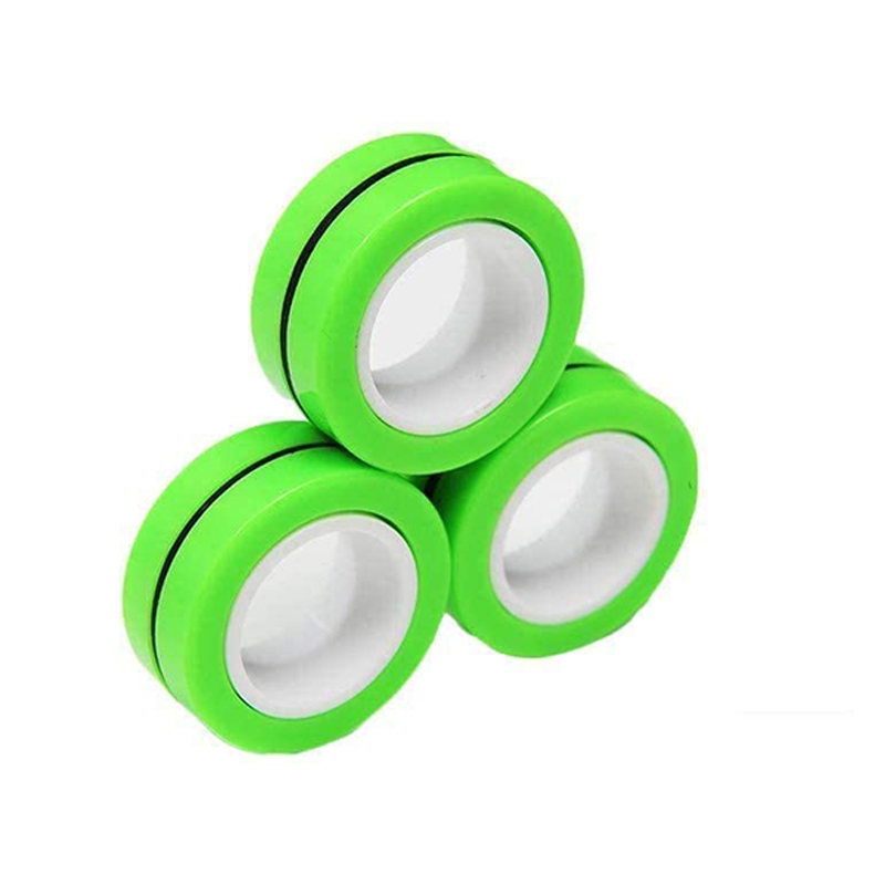 Magnetic Bracelet Ring Unzip Magical Ring Props Tools Decompression products Anti-Stress - Green