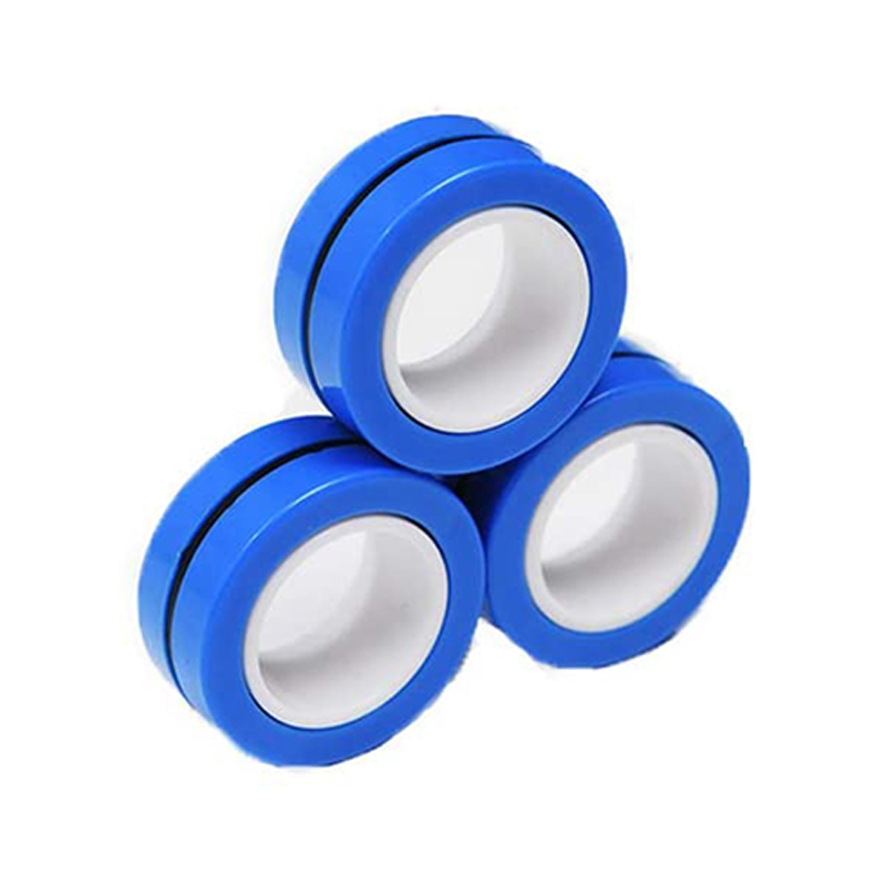 Magnetic Bracelet Ring Unzip Magical Ring Props Tools Decompression Product Anti-Stress - Blue