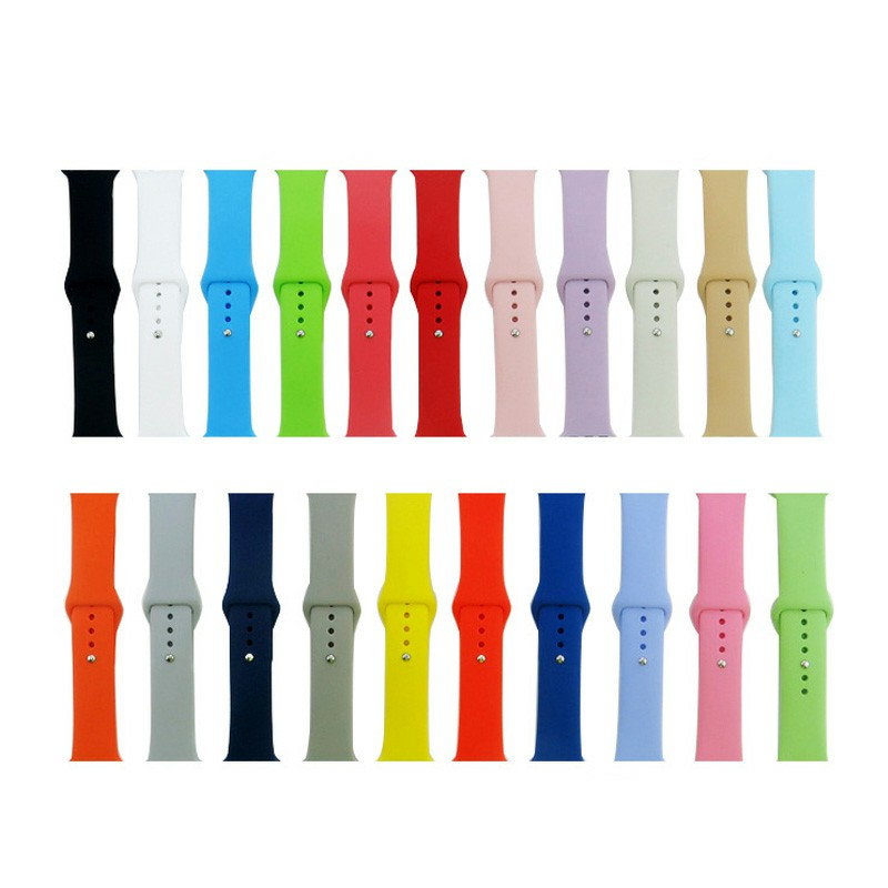 42mm Apple Watch Soft Sillicone Rubber Replacement Wristband - New Blue