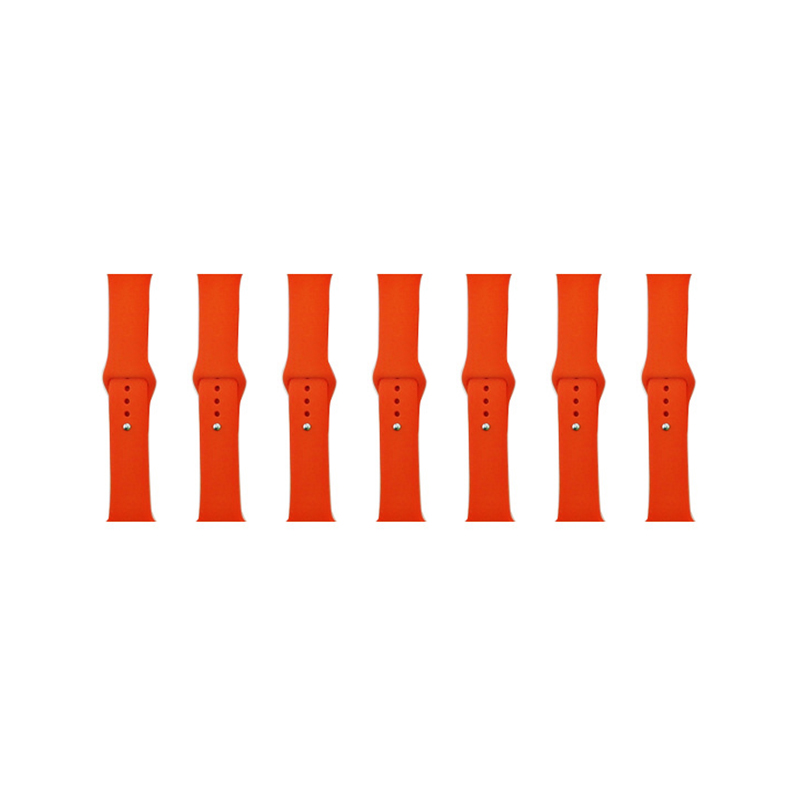38mm Apple Watch Soft Sillicone Rubber Replacement Wristband - Orange