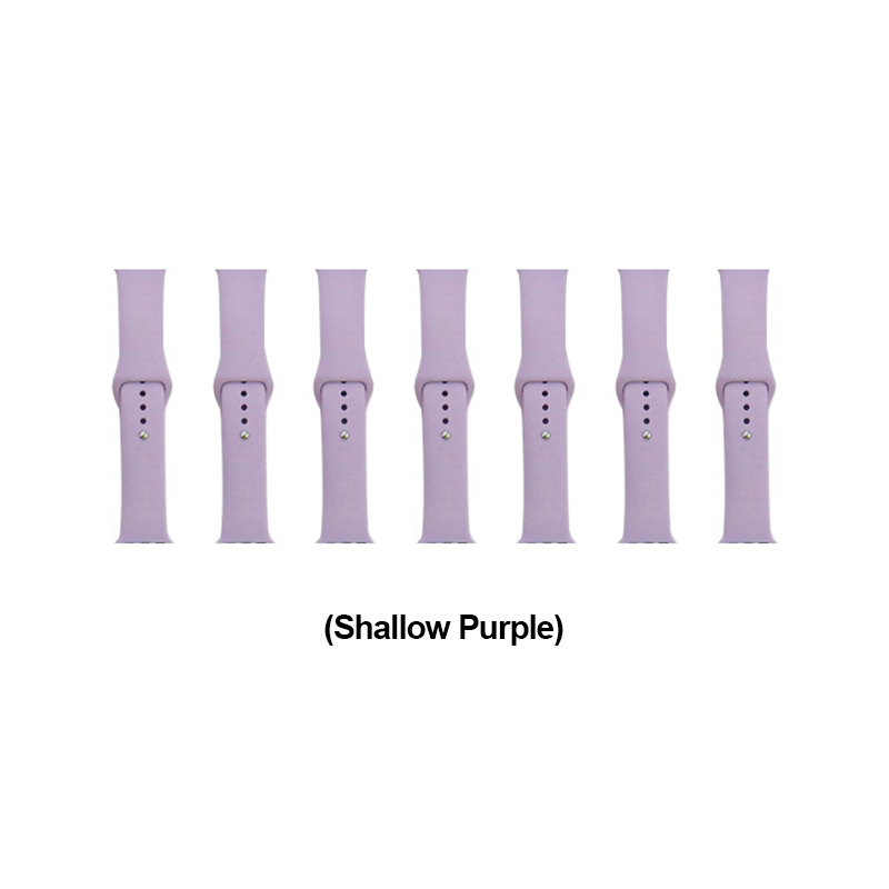 42mm Apple Watch Soft Sillicone Rubber Replacement Wristband - Shallow Purple