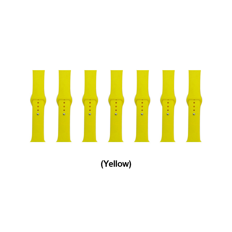 42mm Apple Watch Soft Sillicone Rubber Replacement Wristband - Yellow