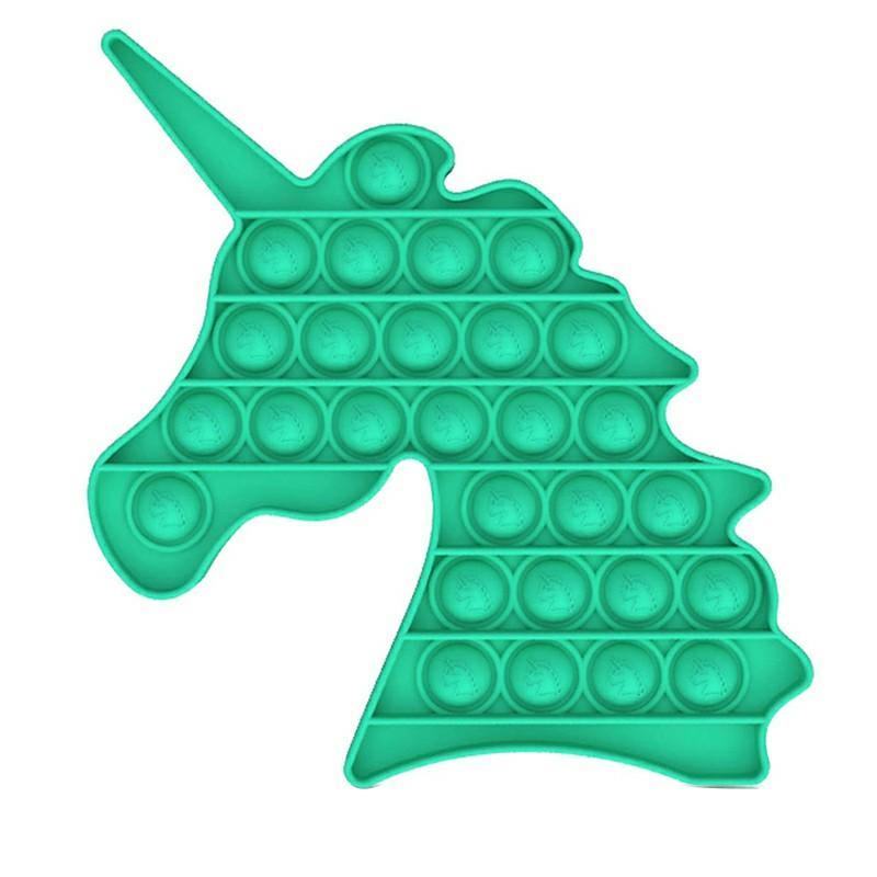 Pop it Fidget Unicorn a Loud Side and a Quiet Side to Pop - Green