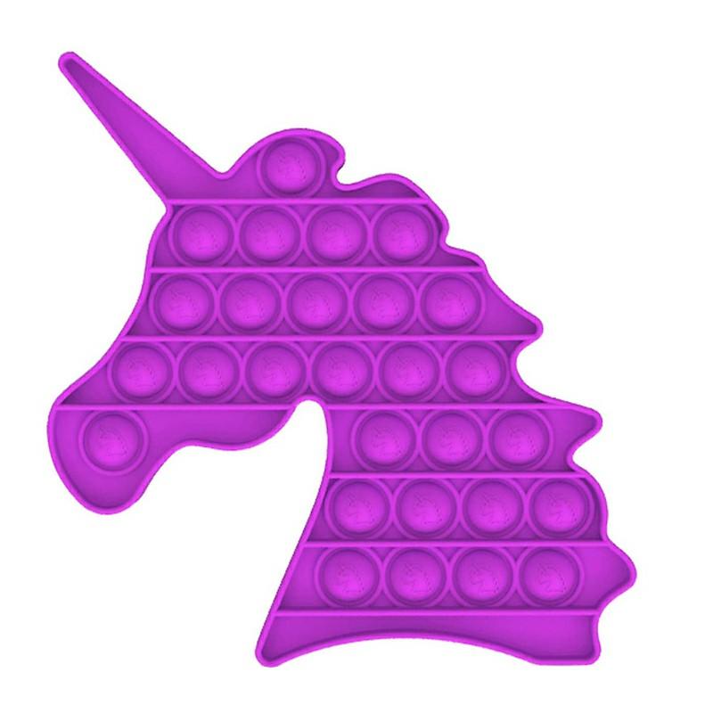 Pop it Fidget Unicorn a Loud Side and a Quiet Side to Pop - Purple