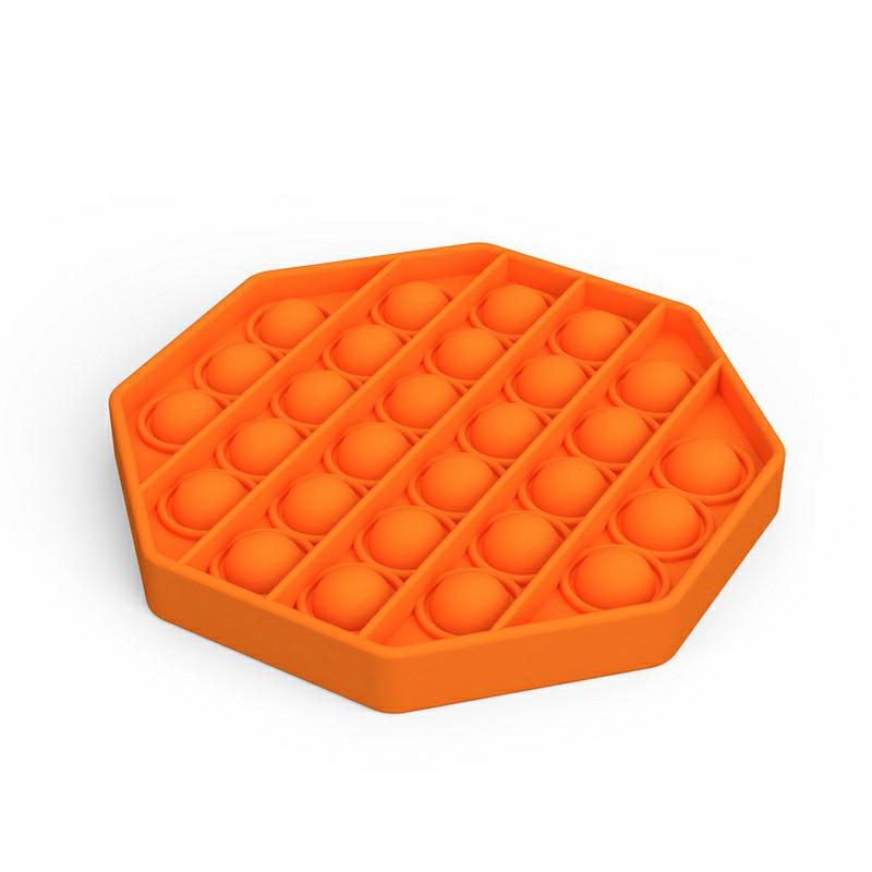 Octagon Pop it Fidget Board Unzip Product Stress Relief - Orange
