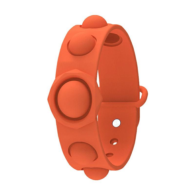 Simple Dimple Push Bubble Fidget Bracelet Portable Sensory Product Stress Relief - Orange
