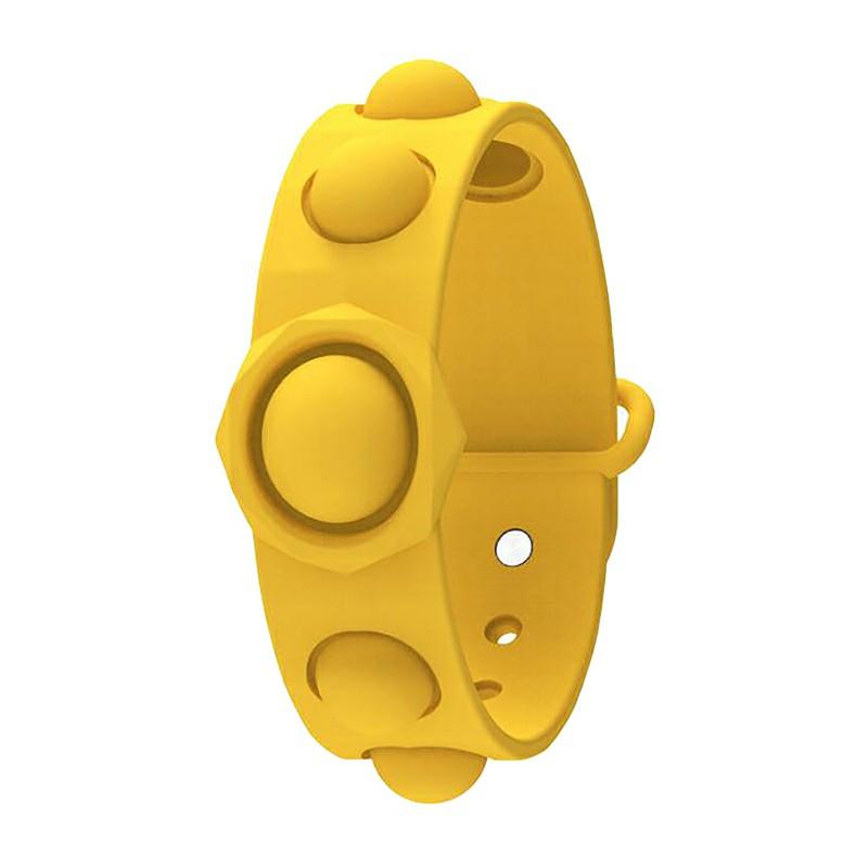 Simple Dimple Push Bubble Fidget Bracelet Portable Sensory Product Stress Relief - Yellow