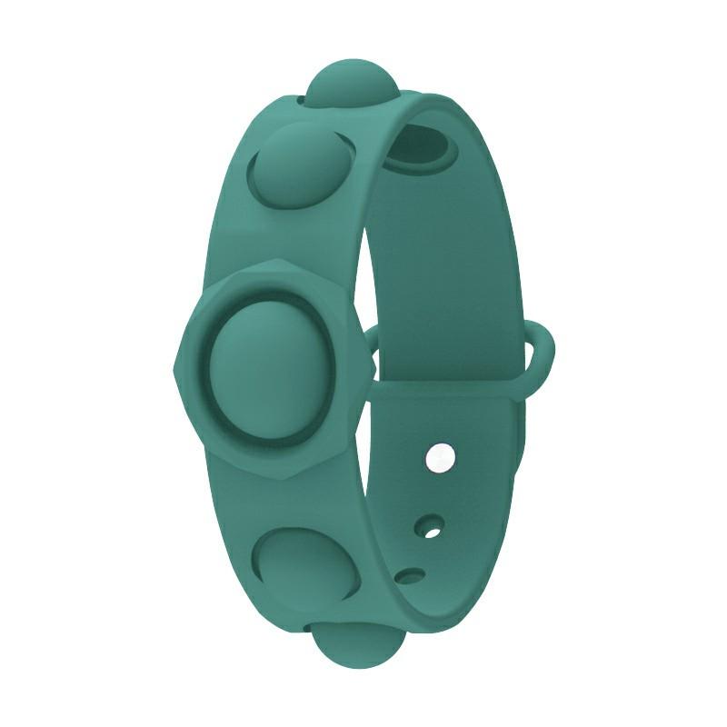 Simple Dimple Push Bubble Fidget Bracelet Portable Sensory Product Stress Relief - Green