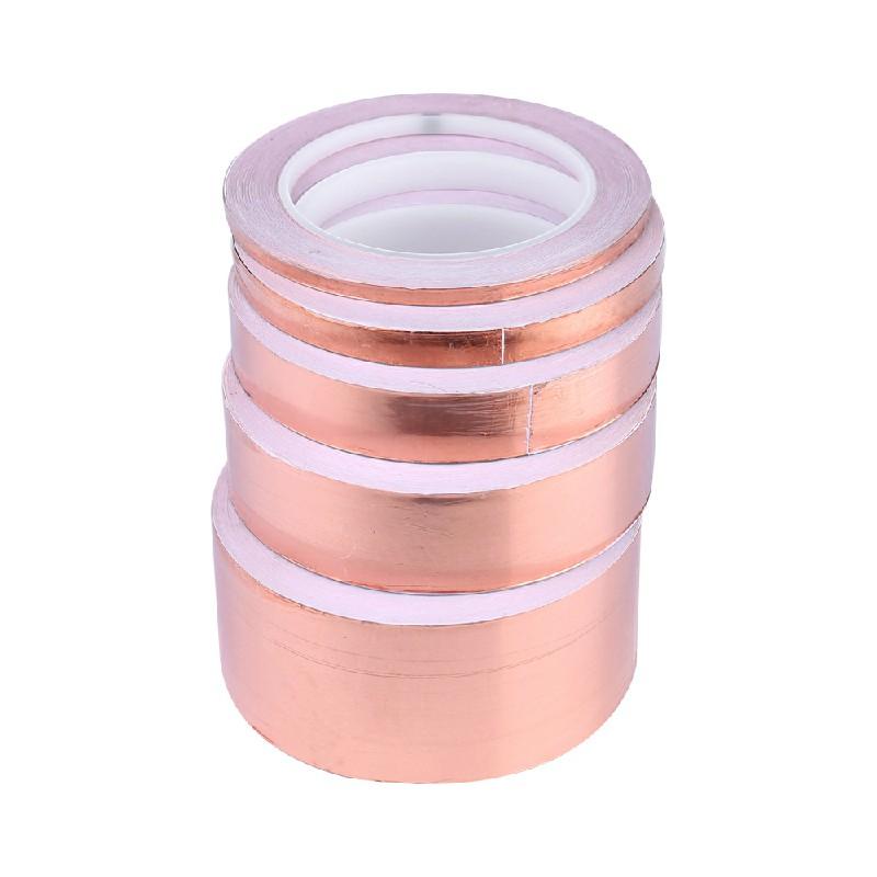 Copper Slug Tape Adhesive Conductive Repellent Guitar Pickup Tape EMI Shield - 50mmx20m