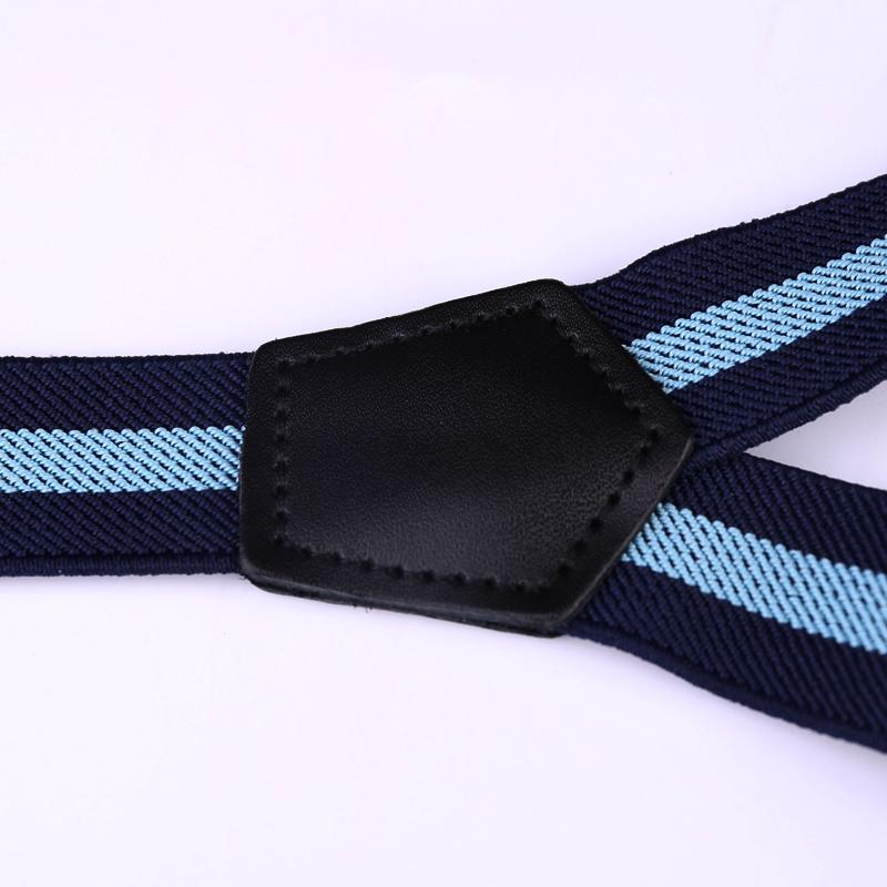 25mm Wide Heavy Duty Suspenders Adjustable Unisex Trousers - Black D05