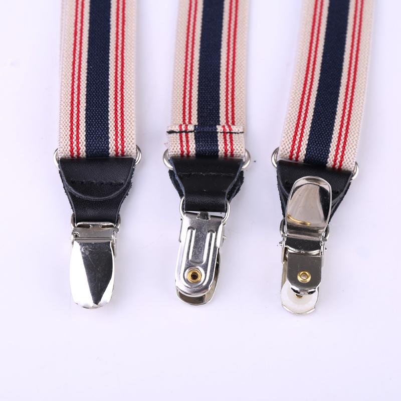 25mm Wide Heavy Duty Suspenders Adjustable Unisex Trousers - Black D20