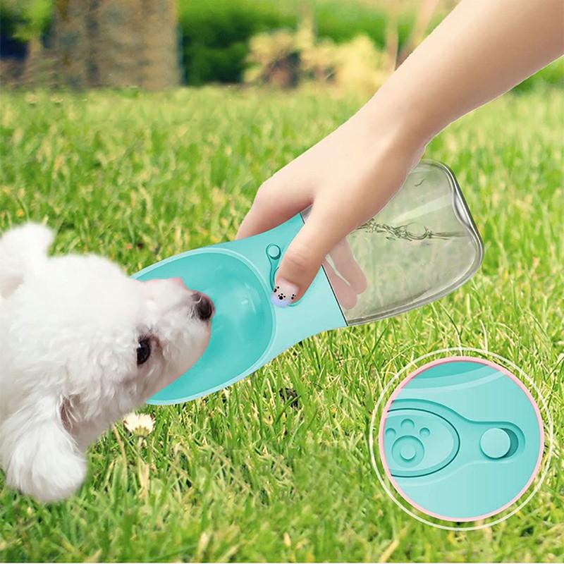 350ml Portable PET Dogs Cats Water Bottle Lightweight Feeder - Blue