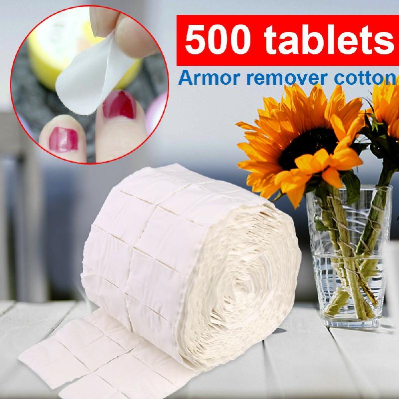 Lint Free Cotton Nail Pads Wipes UV Gel Polish Acrylics Remover 500 pcs