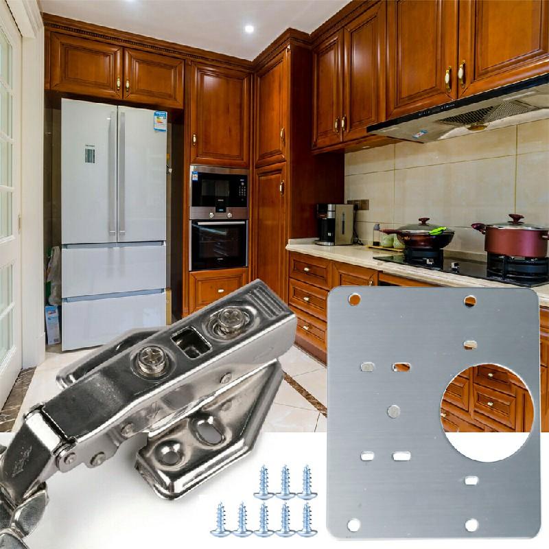 Kitchen Cupboard Door Hinge Repair Kit Hinge Repair Plate and Fixing Screws