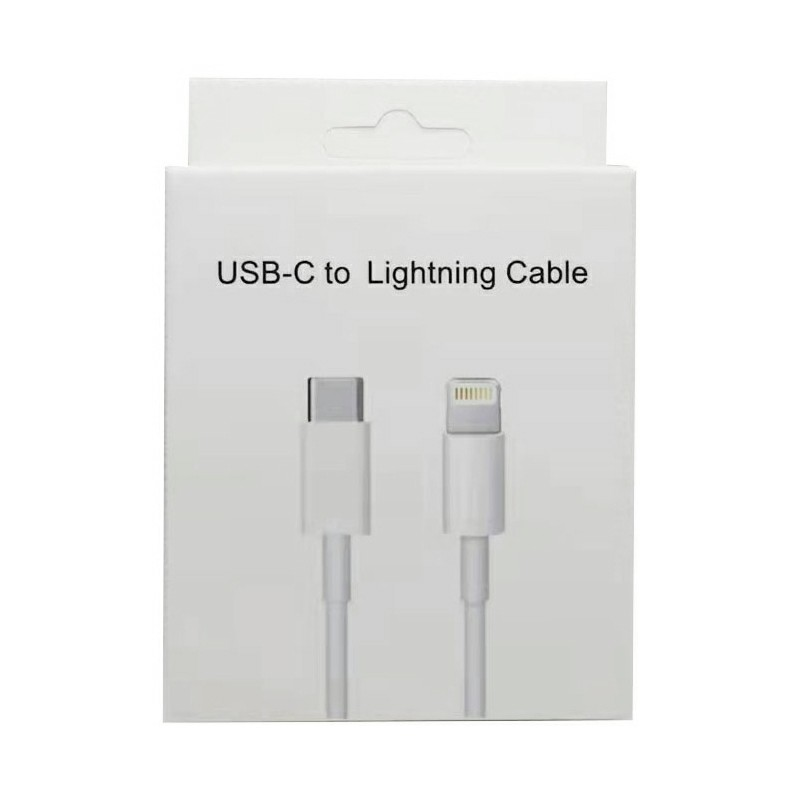 Type C to Lightning Data Cable Package White Box Only Box No Cable