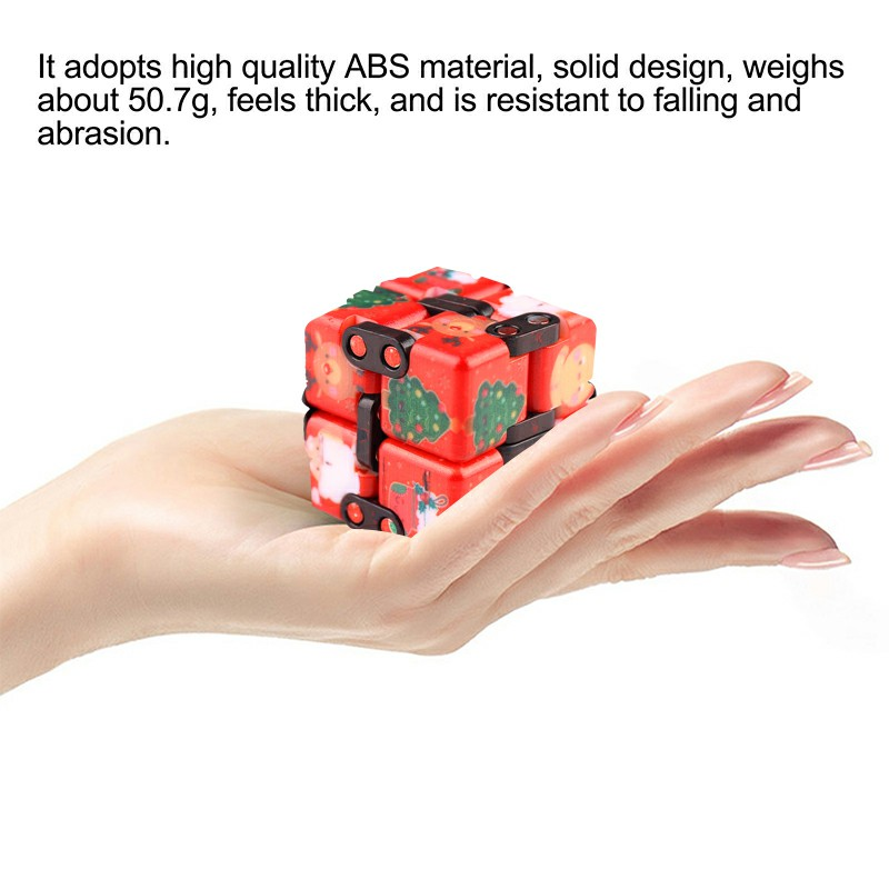 Sensory Infinity Cube Stress Fidget Product for Autism Anxiety Relief - Red