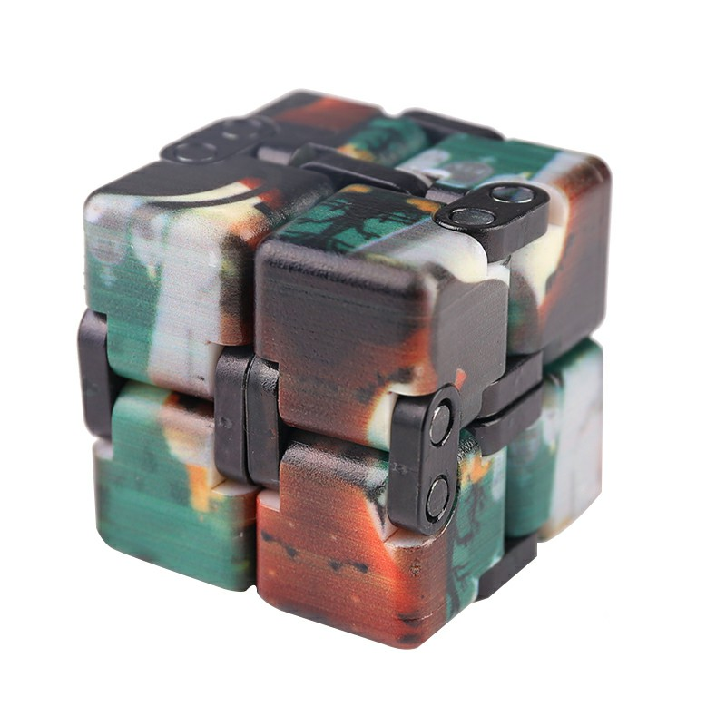 Sensory Infinity Cube Stress Fidget Product for Autism Anxiety Relief - Green