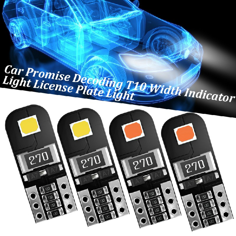 2 pcs Car LED Bulbs Canbus Error Free 5W Side Light Bulb Door Mirror Light License Light - White Light