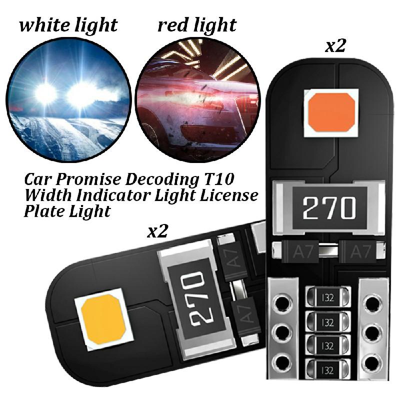 2 pcs Car LED Bulbs Canbus Error Free 5W Side Light Bulb Door Mirror Light License Light - Red Light
