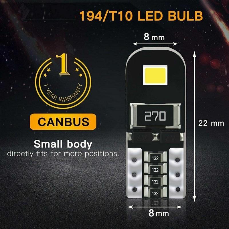 2 pcs Car LED Bulbs Canbus Error Free 5W Side Light Bulb Door Mirror Light License Light - Yellow Light