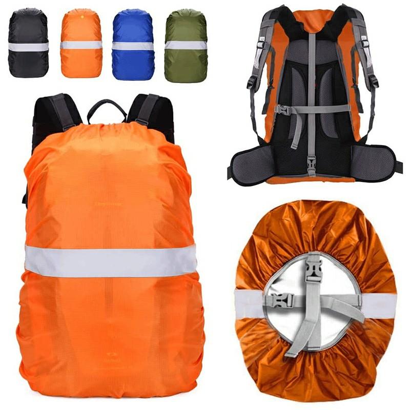 Outdoor Reflective Function Waterproof Dustproof Backpack Rain Cover Shoulder Bag Cover Orange - S